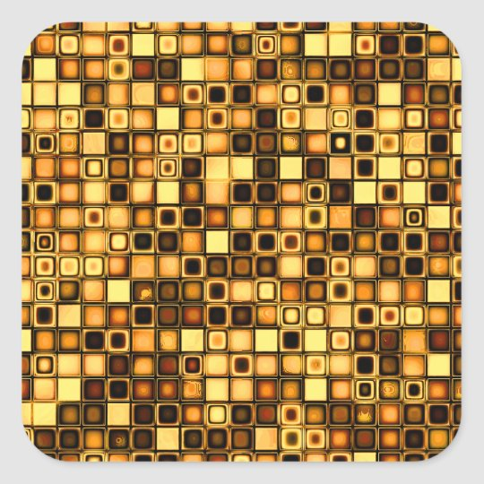 Burnt Terra Cotta Textured Mosaic Tiles Pattern Square