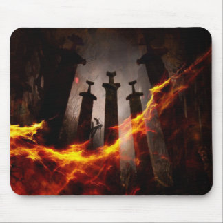 Burnt to the ground mouse mat