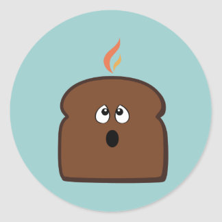 Burnt Toast Classic Round Sticker