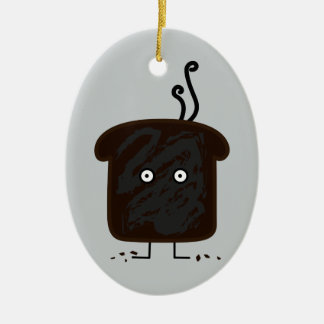 Burnt Toast smoke crumbs ashes bread Christmas Ornament
