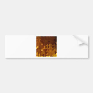 Burnt Umber Brown Abstract Low Polygon Background Bumper Sticker