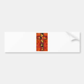 Burnt Wood Cross Designs Bumper Sticker