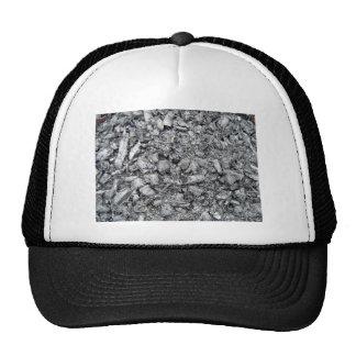 Burnt wood remain texture mesh hat