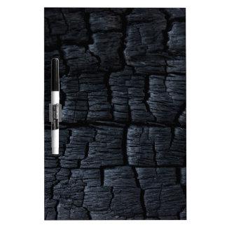 Burnt Wood Texture Dry Erase Board