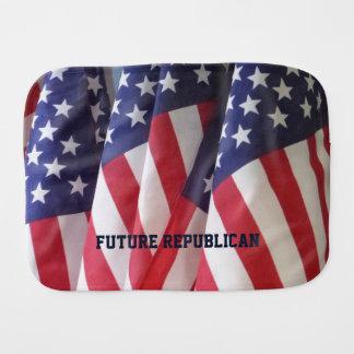 Burp Cloth, American Flags, Future Republican Baby Burp Cloths