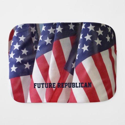Burp Cloth, American Flags, Future Republican