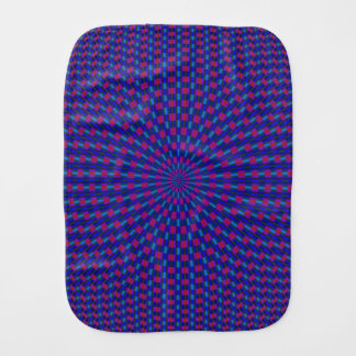 Burp Cloth Blue and Red Geometric Circles