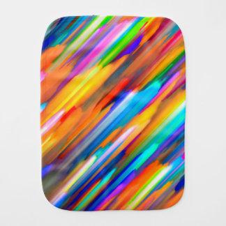 Burp Cloth Colorful digital art splashing G391