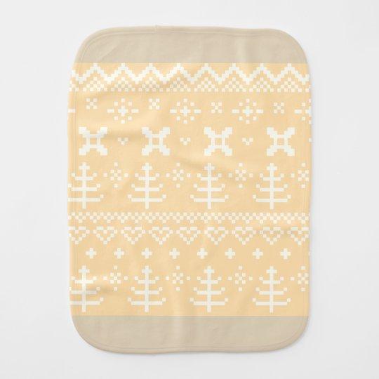 Burp cloth : Peach eco Nordic Folk