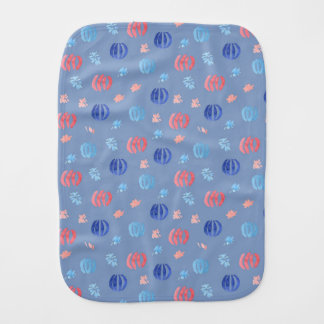 Burp cloth with Chinese lanterns and fireworks