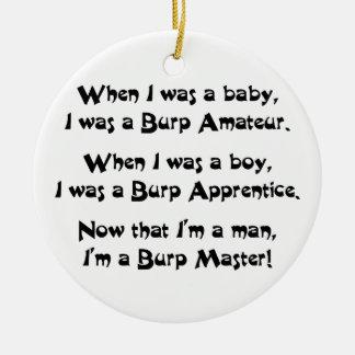 Burp Master Christmas Ornament
