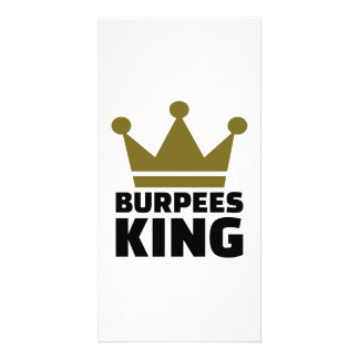 Burpees king photo card