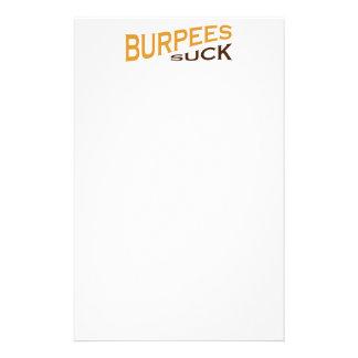 Burpees Suck - Funny Inspiration Custom Stationery