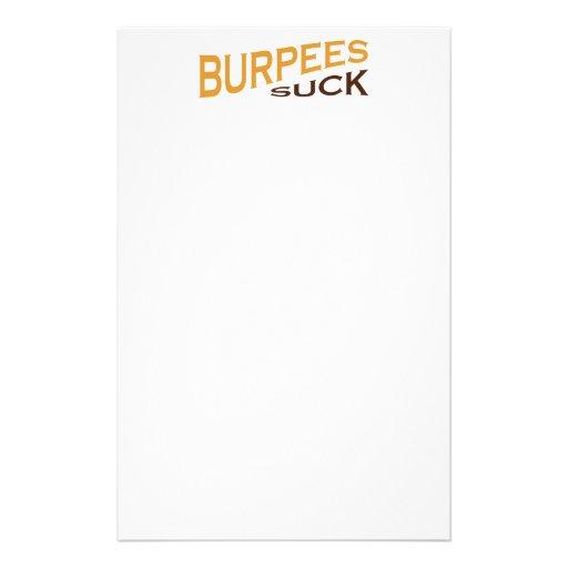 Burpees Suck - Funny Inspiration Stationery Design