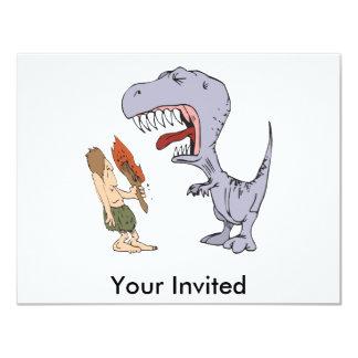 Burping Dinosaur 11 Cm X 14 Cm Invitation Card