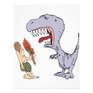 Burping Dinosaur Flyer Design
