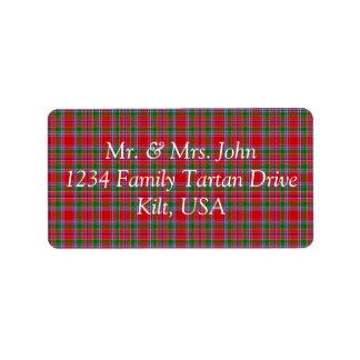 Burrell Tartan Label Address Label