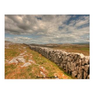 Burren Stone Wall Postcard