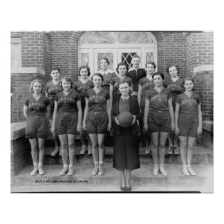 Burrett College Girls Basketball Print
