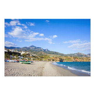 Burriana Beach at the Mediterranean Sea in Nerja Photograph