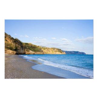 Burriana Beach in Nerja on Costa del Sol in Spain Photograph