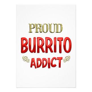 Burrito Addict Personalized Invitation