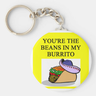 BURRITO and beans lover Basic Round Button Key Ring