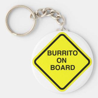 Burrito On Board Key Ring