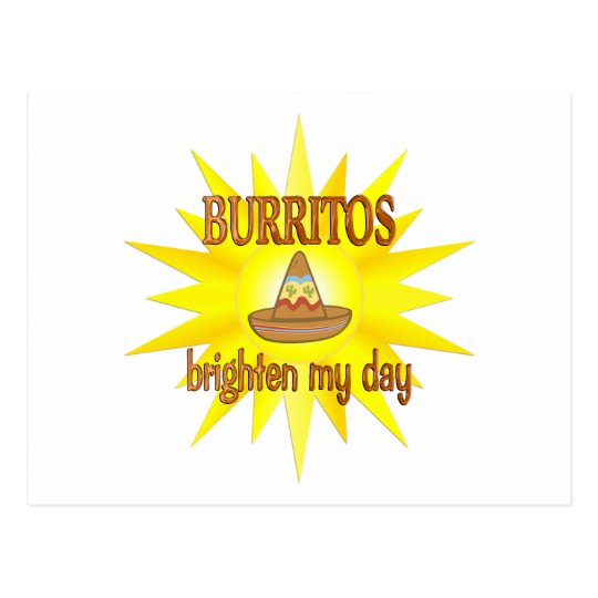 Burritos Brighten Postcard
