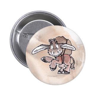Burro 6 Cm Round Badge