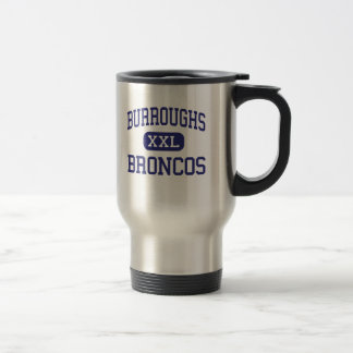 Burroughs Broncos Middle Milwaukee Wisconsin Stainless Steel Travel Mug