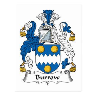 Burrow Family Crest Postcards
