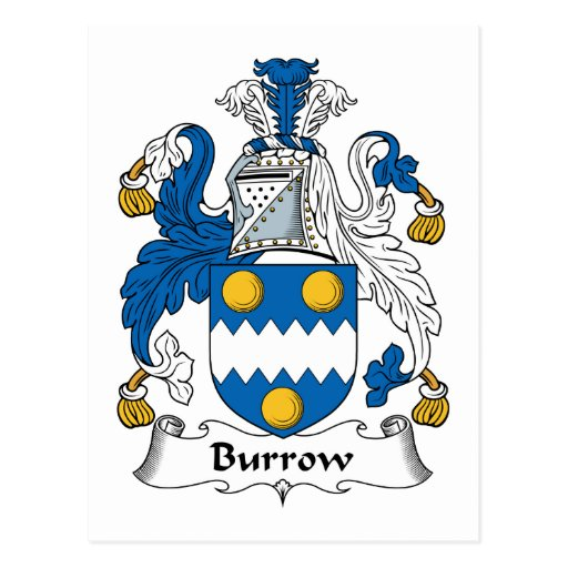Burrow Family Crest Postcards