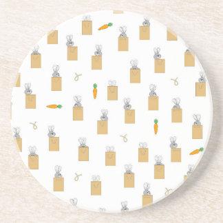 Burrowing Bounders Bags Of Bunnies Beverage Coasters