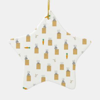 Burrowing Bounders Bags Of Bunnies Ceramic Star Decoration