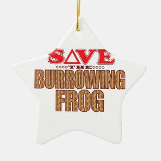 Burrowing Frog Save Christmas Ornament