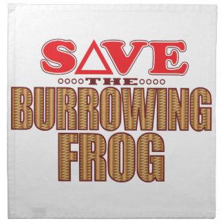 Burrowing Frog Save Napkin