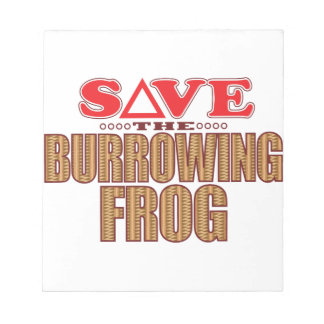 Burrowing Frog Save Notepad