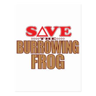 Burrowing Frog Save Postcard