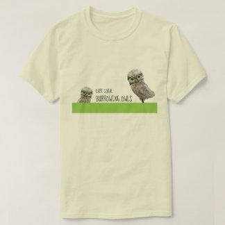 Burrowing Owl Art T-Shirt