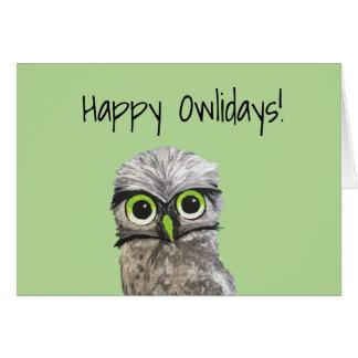 Burrowing Owl Holidays Card