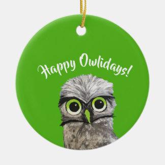 Burrowing Owl Holidays Christmas Ornament