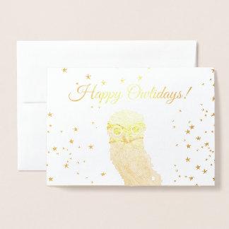 Burrowing Owl Holidays Foil Card