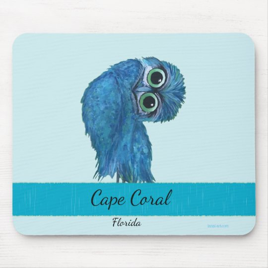 Burrowing Owl Painting Cape Coral FL Mouse Mat