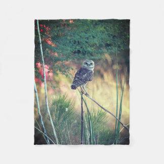 Burrowing Owl Small Fleece Blanket