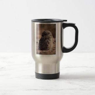 Burrowing Owl Stainless Steel Travel Mug