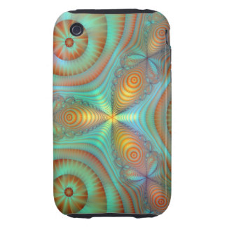 Burst Fantasy Fractal Abstract Art Bright Colors Tough iPhone 3 Cases