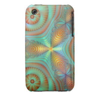 Burst Fantasy Fractal Abstract Art Bright Colors Case-Mate iPhone 3 Case