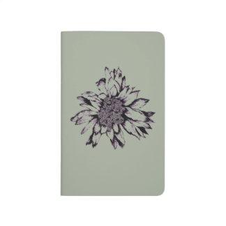 Burst Flower Grey Pocket Journal Design