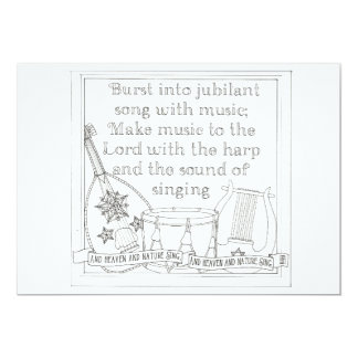 Burst Into Song Coloring Book Postcard